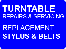 Turntable record player decks repairs stylus & belts replacement